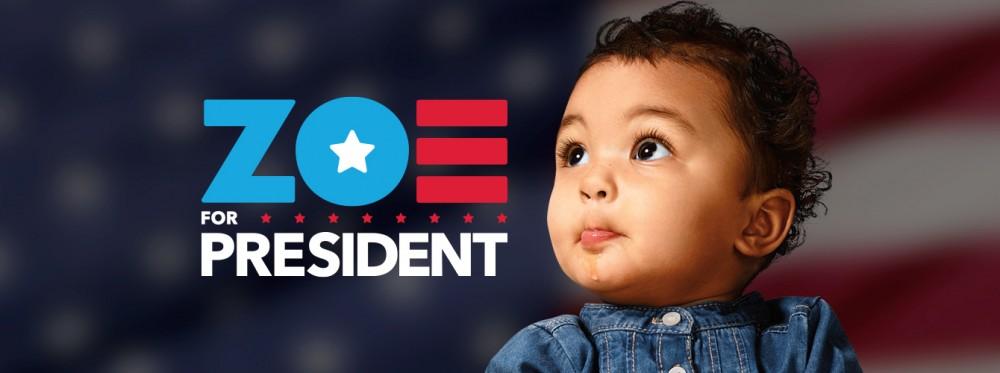 Zoe For President Social Cover Image - Twitter